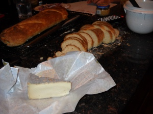 cheese created by tired cows, and bread created by a wide-awake young woman