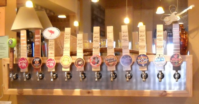 Tap Line-Up at 12 String Brewing Co.