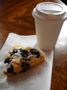 """Voluptuous"" is how I'd best describe the blueberries on this scone."